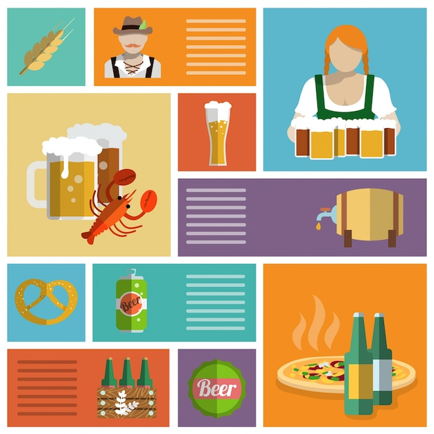 Oktoberfest designs collection Vector | Free Download