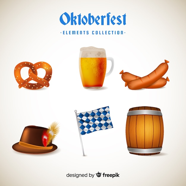 Oktoberfest elements collection Free Vector