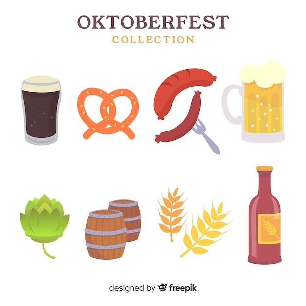 Oktoberfest elements set Free Vector