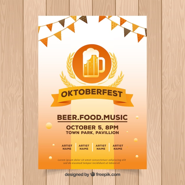 Oktoberfest, festive poster