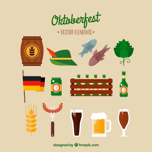 Oktoberfest, flat elements Free Vector