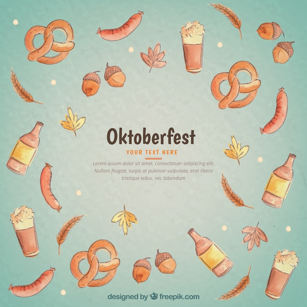 Oktoberfest food background Vector | Free Download