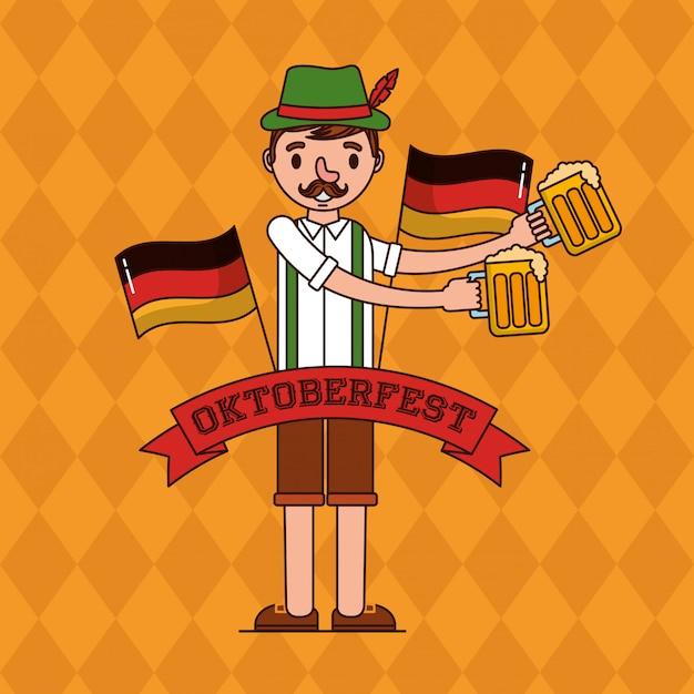 Oktoberfest germany celebration Free Vector