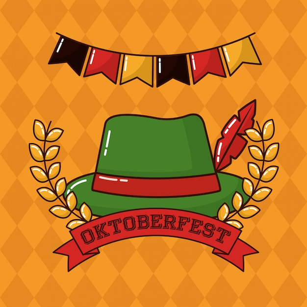 Oktoberfest germany celebration Free Vector