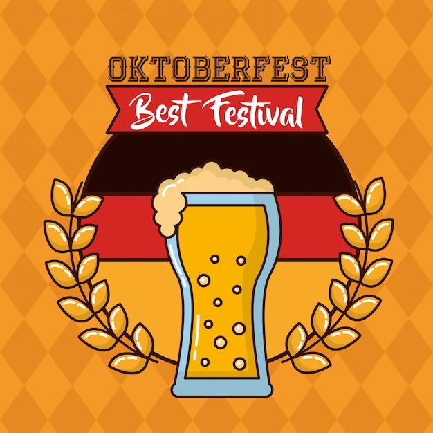 Celebrazione della oktoberfest in germania Vettore gratuito