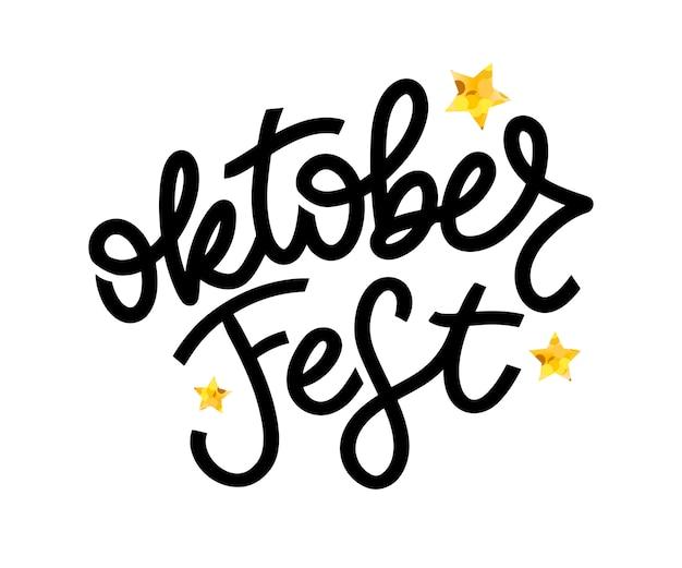 Oktoberfest handwriting lettering. Premium Vector