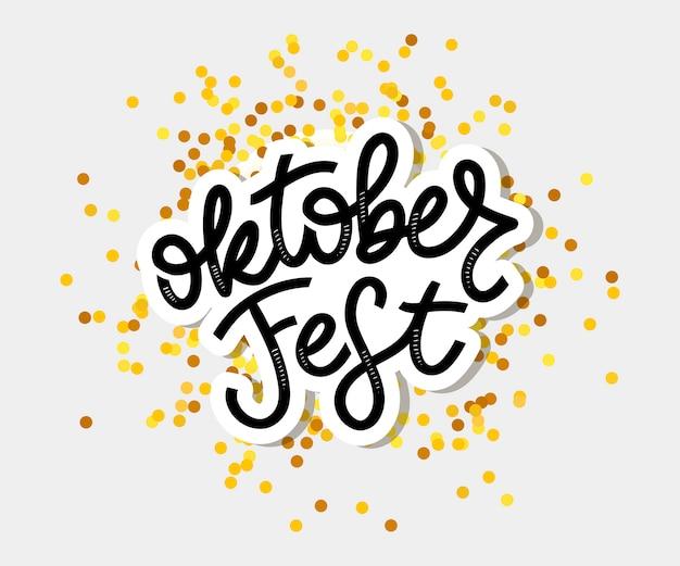 Oktoberfest handwritten lettering. oktoberfest typography Premium Vector