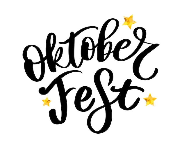 Oktoberfest handwritten lettering Premium Vector