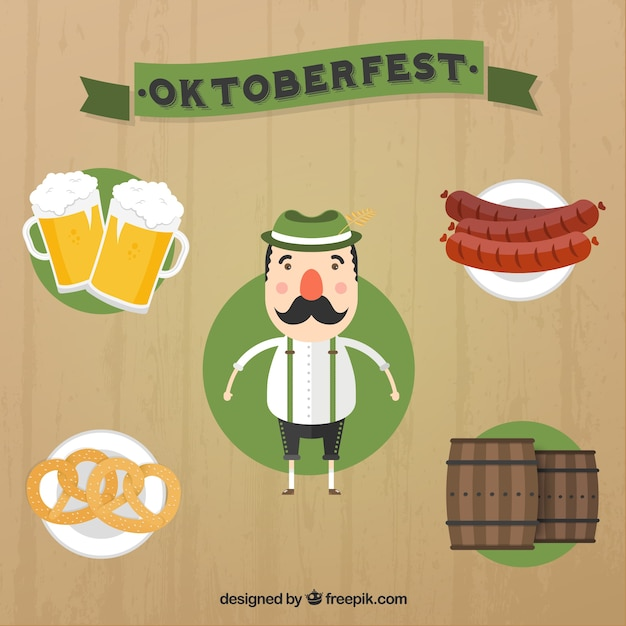 Oktoberfest Icons Set Vector | Free Download