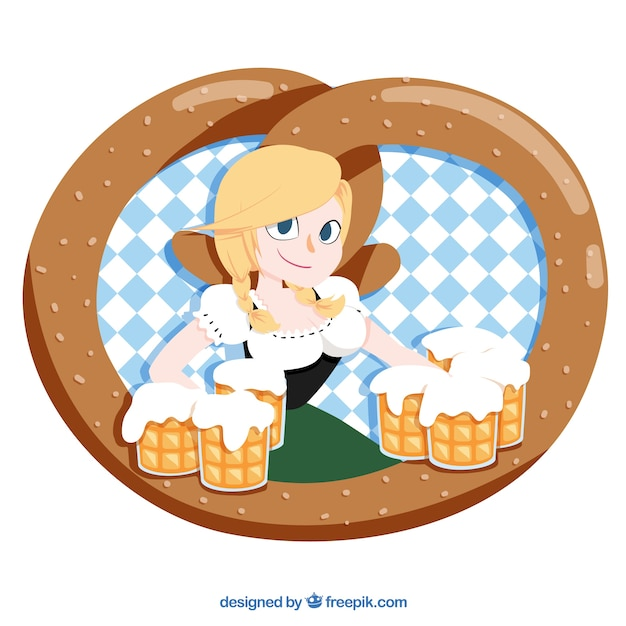 Oktoberfest illustration Vector | Free Download