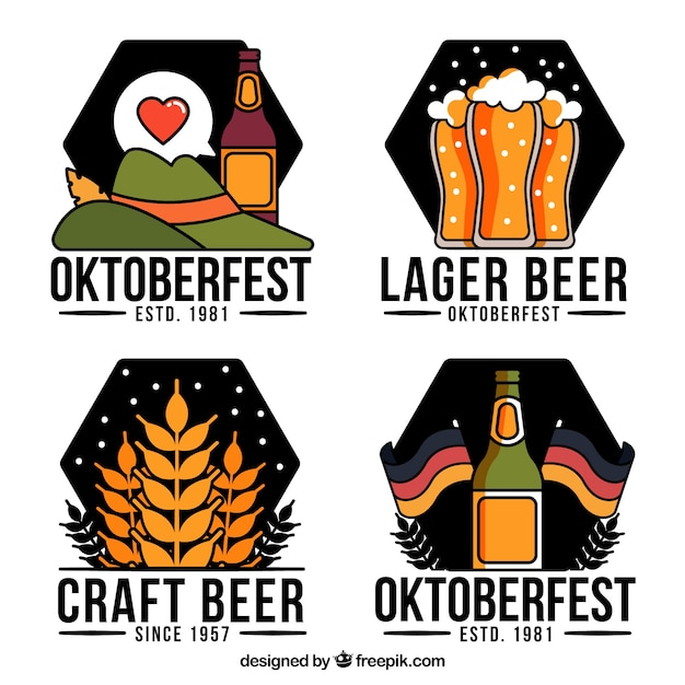 Oktoberfest label collection