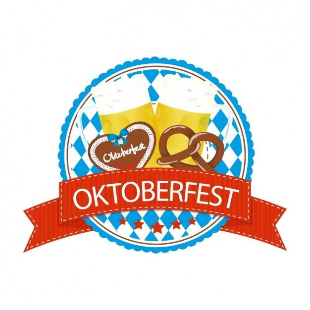 Oktoberfest label design Vector | Free Download