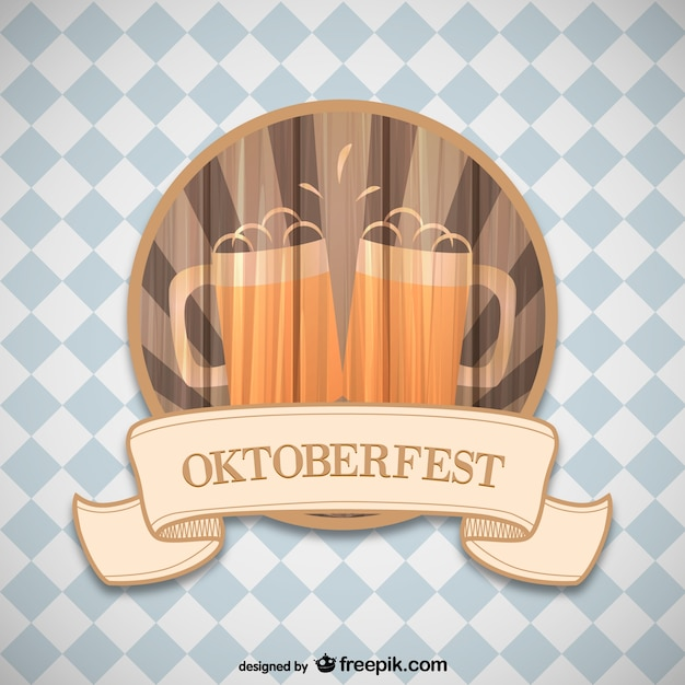 Oktoberfest label Vector | Free Download