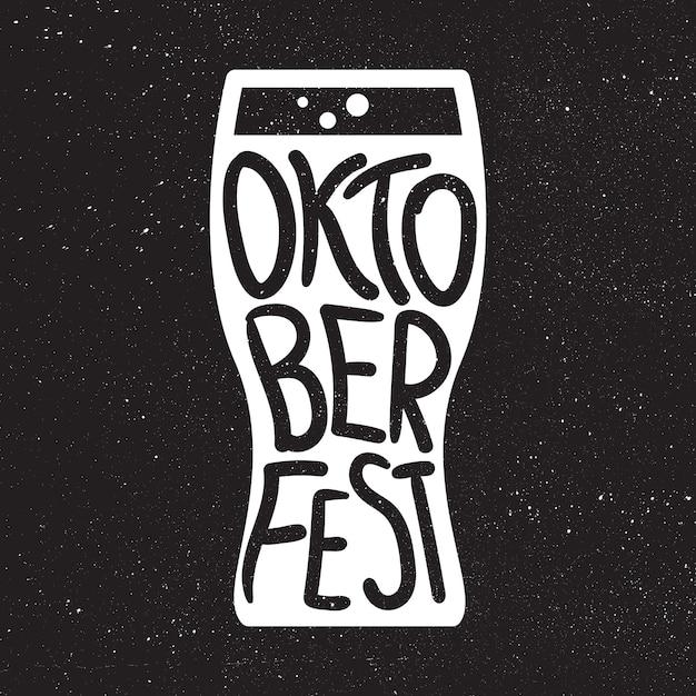 Oktoberfest lettering badge Premium Vector