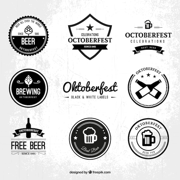 Oktoberfest logo collection Vector | Free Download