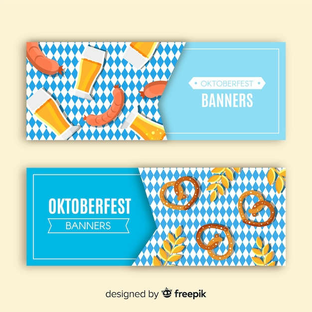 Oktoberfest party banner template set vector free download oktoberfest party banner template set free vector maxwellsz