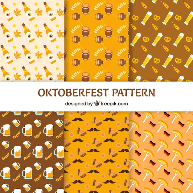 Oktoberfest pattern background Vector | Free Download