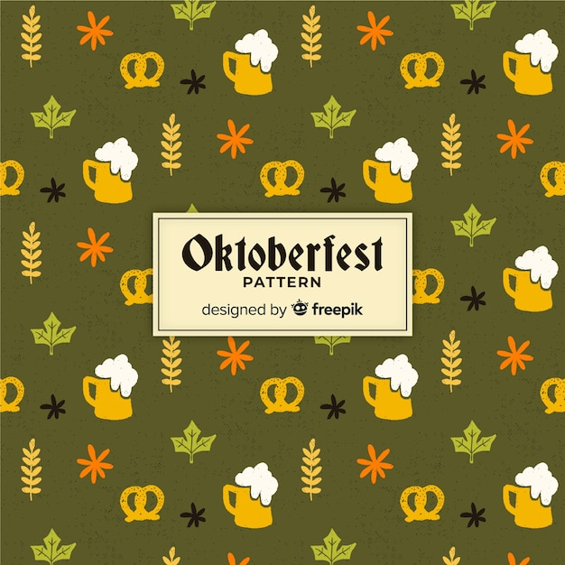 Oktoberfest pattern background Free Vector