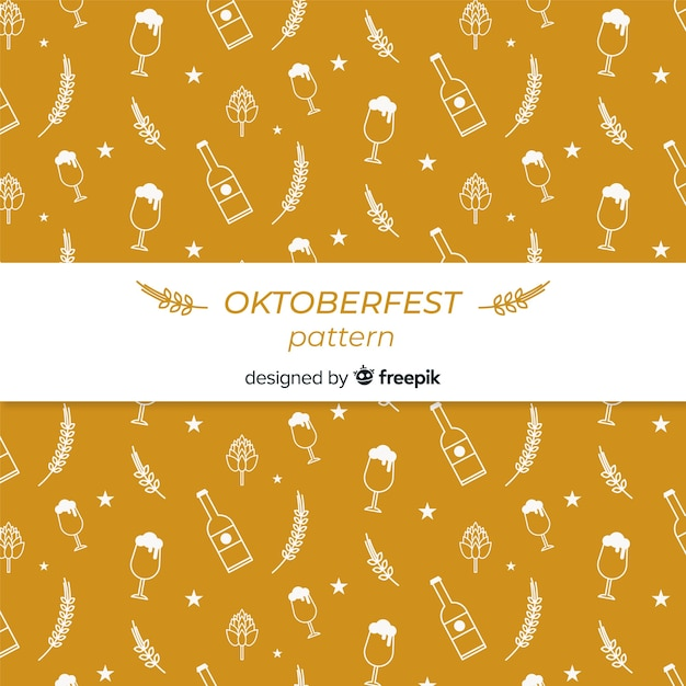 Oktoberfest pattern Free Vector