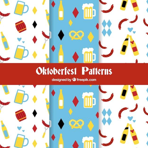 Oktoberfest patterns with flat design