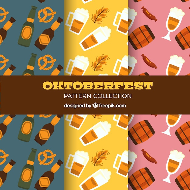 Oktoberfest patterns with variety of beer