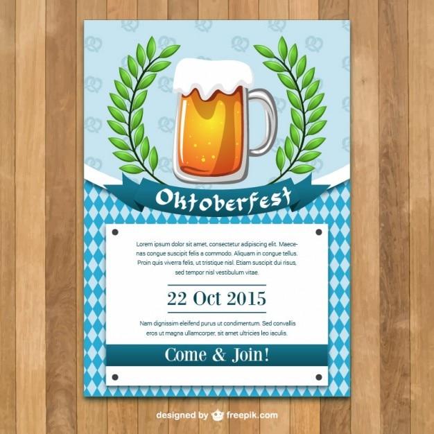 Oktoberfest Poster Template Vector