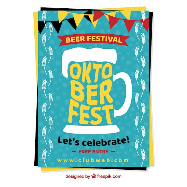 Oktoberfest poster with a beer mug
