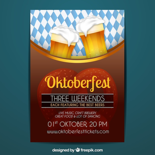 Oktoberfest poster with beer