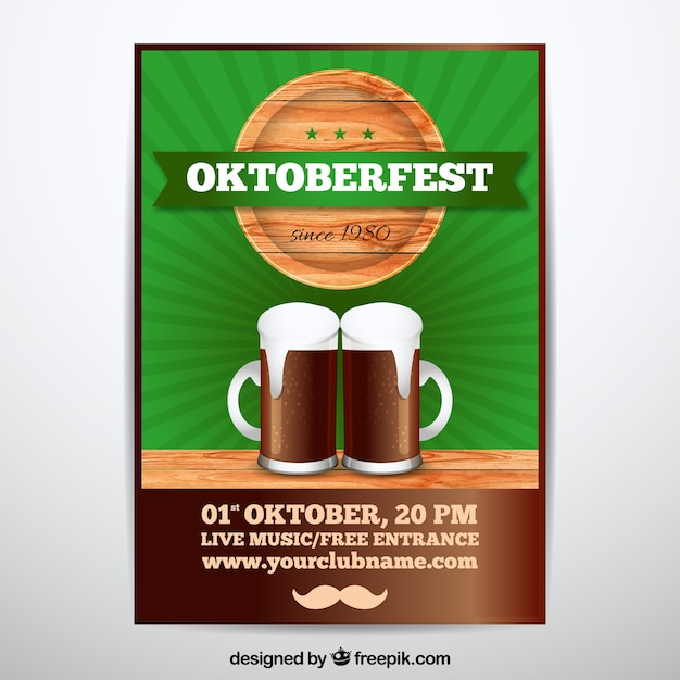 Oktoberfest poster with black beer