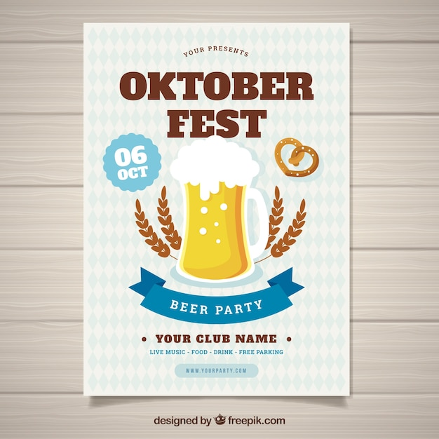 Oktoberfest poster with traditional elements