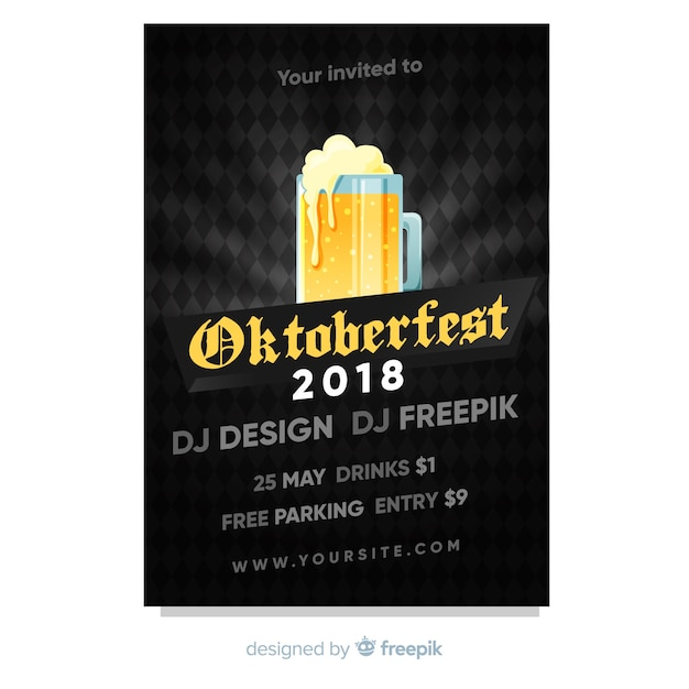 Oktoberfest poster Free Vector