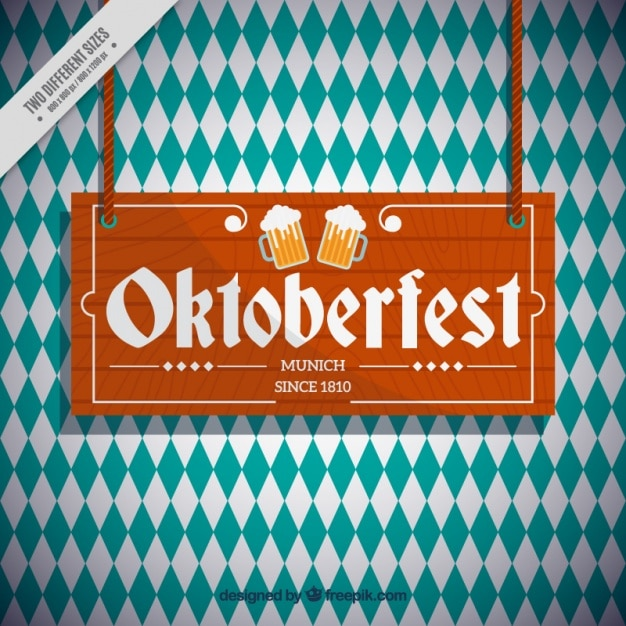 Oktoberfest rhombus background Free Vector
