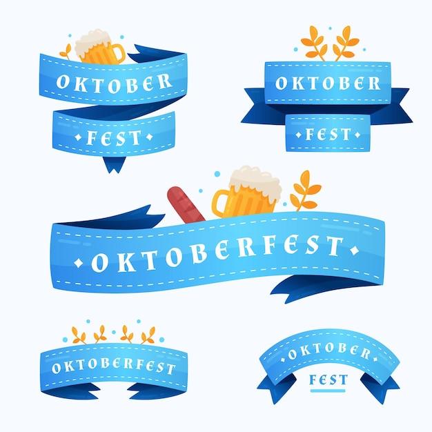 Nastri dell'oktoberfest Vettore gratuito