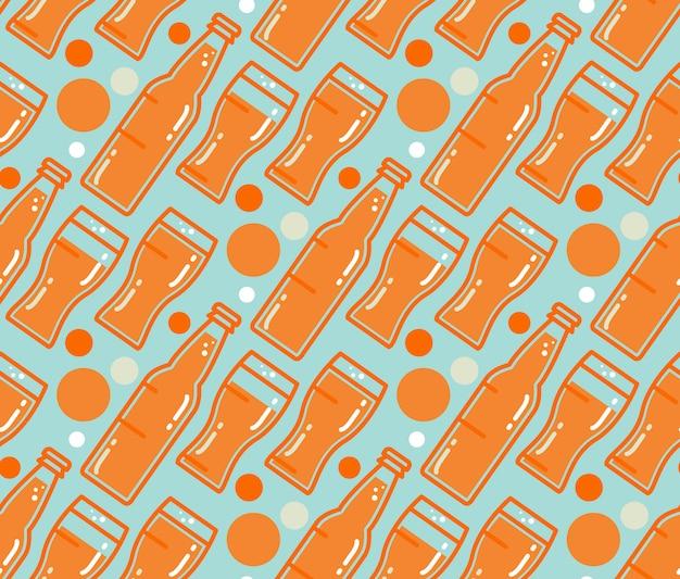Oktoberfest seamless pattern Premium Vector