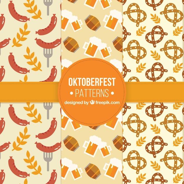 Oktoberfest, three flat patterns