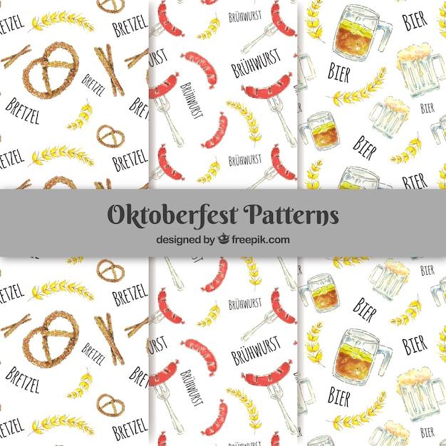 Oktoberfest, three patterns