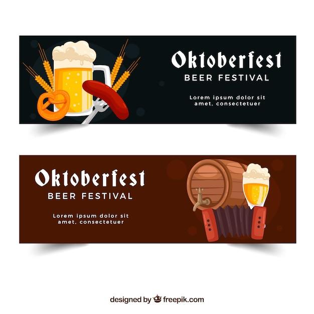 Oktoberfest, two banners