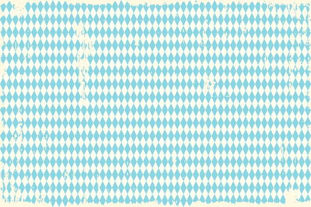 Oktoberfest vintage blue checkered background Premium Vector