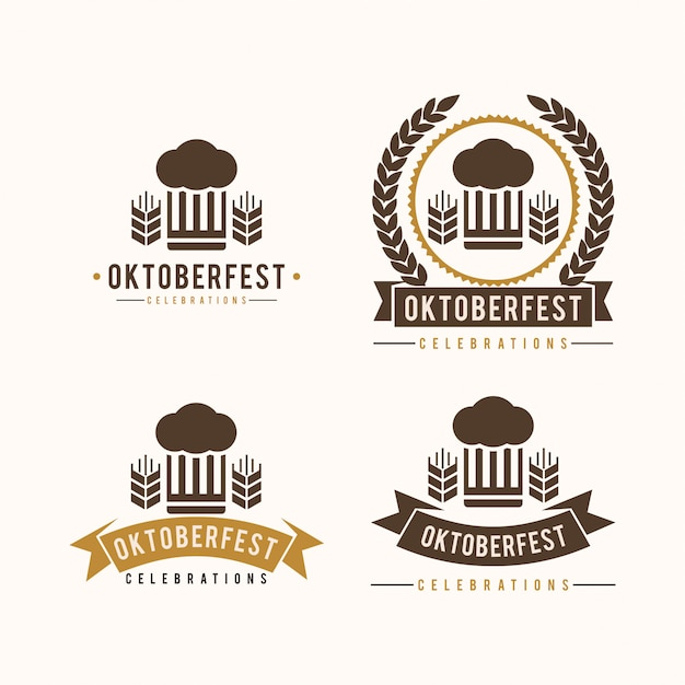 Oktoberfest vintage logo Premium Vector
