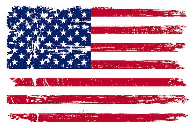 Old american flag Premium Vector