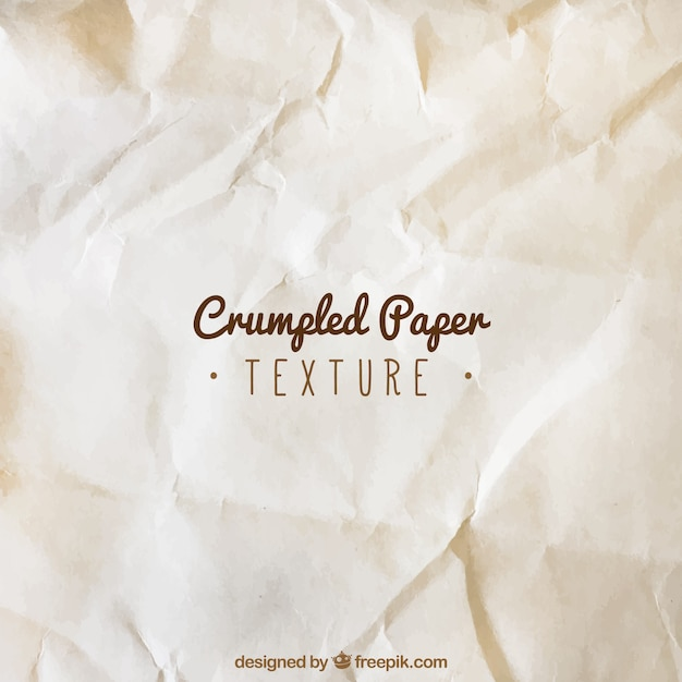 Old crumpled paper texture Vector | Free Download