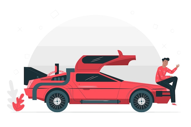 Old day illustration concept Free Vector