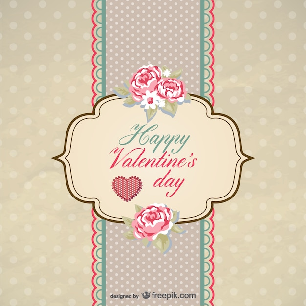 Old Fashioned Valentine Cards Vector Vector Free Download