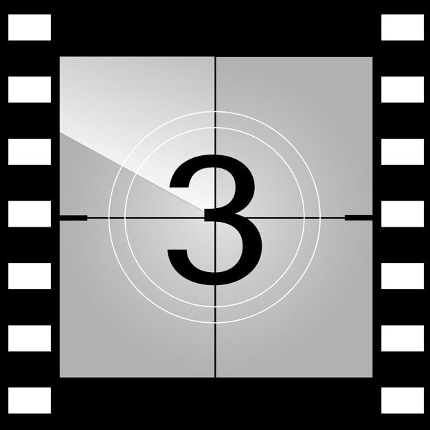 old film movie countdown frame vector premium download
