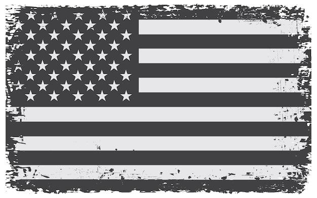 古いグランジアメリカの国旗 Premiumベクター