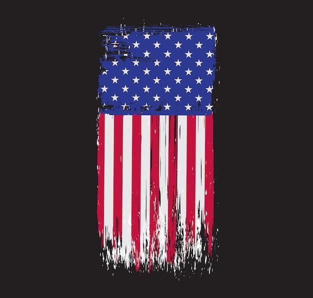 古いグランジアメリカ国旗 Premiumベクター