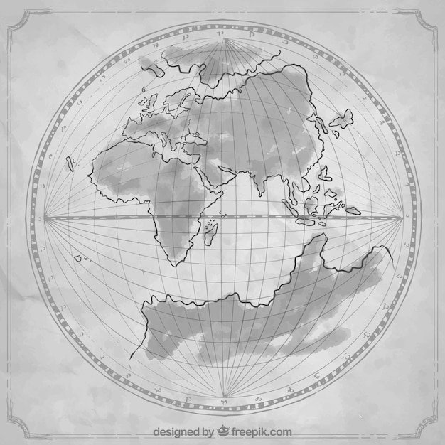 Old hand drawn world map vector free download old hand drawn world map free vector gumiabroncs Image collections