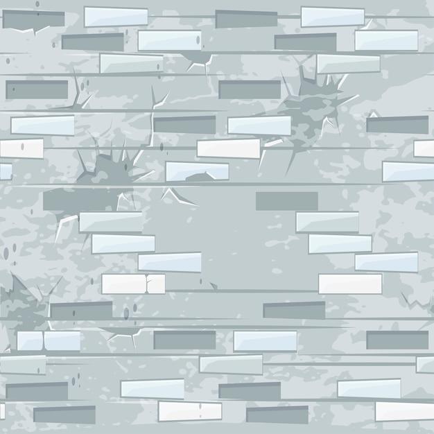 Старая легкая кирпичная стена текстуры бесшовные. бесшовные модели камни кирпич. Premium векторы