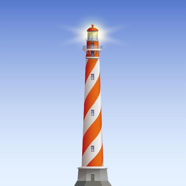 Old lighthouse illustration Premium Vector