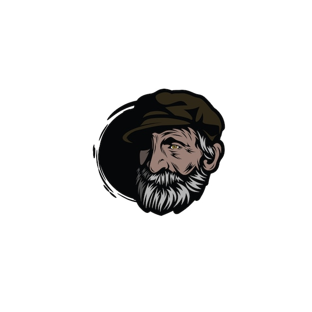 Old man character Premium Vector